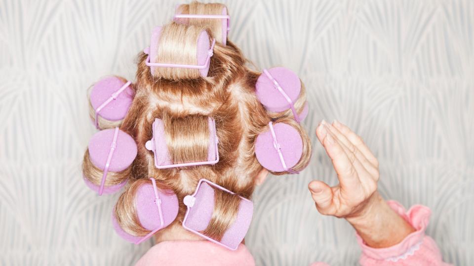 коса прическа ролки