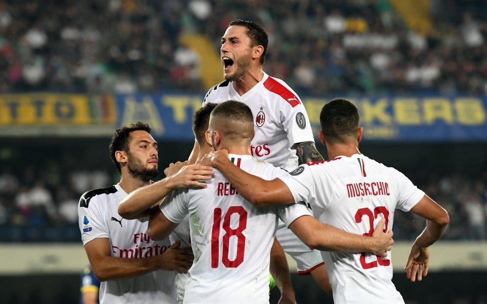 Милан спечели като гост дербито с Верона, за да запише