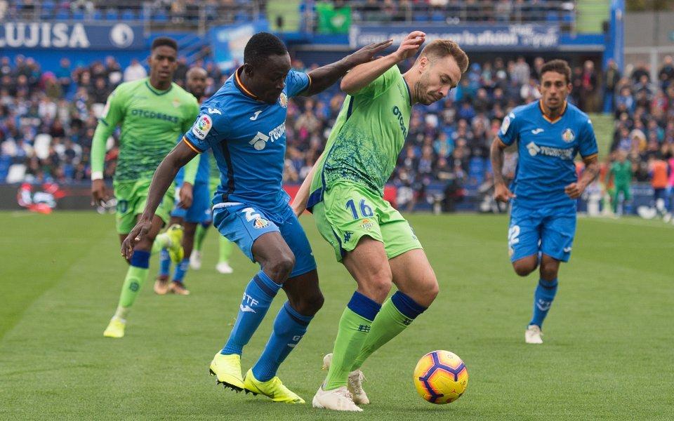 Отборите на Реал Бетис и Хетафе завършиха 1:1 в мач