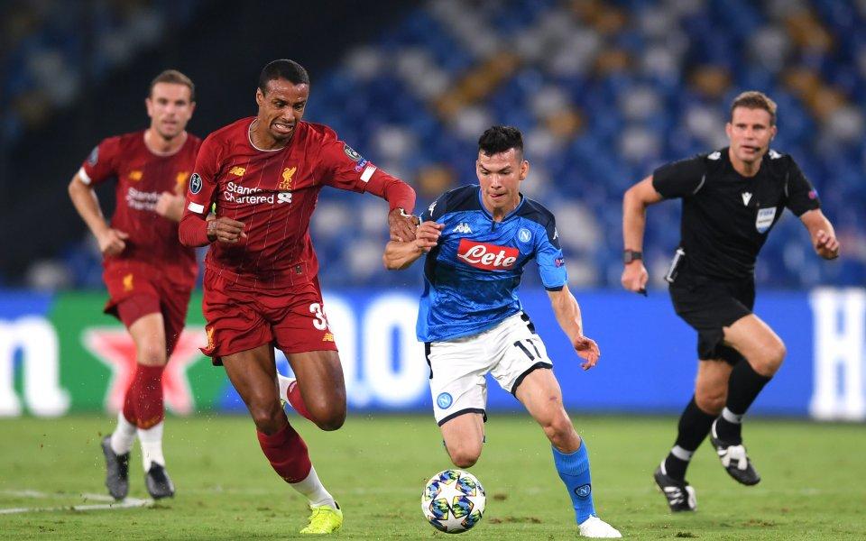 Отборите на Наполи и Ливърпул играят при резултат 0:0 на