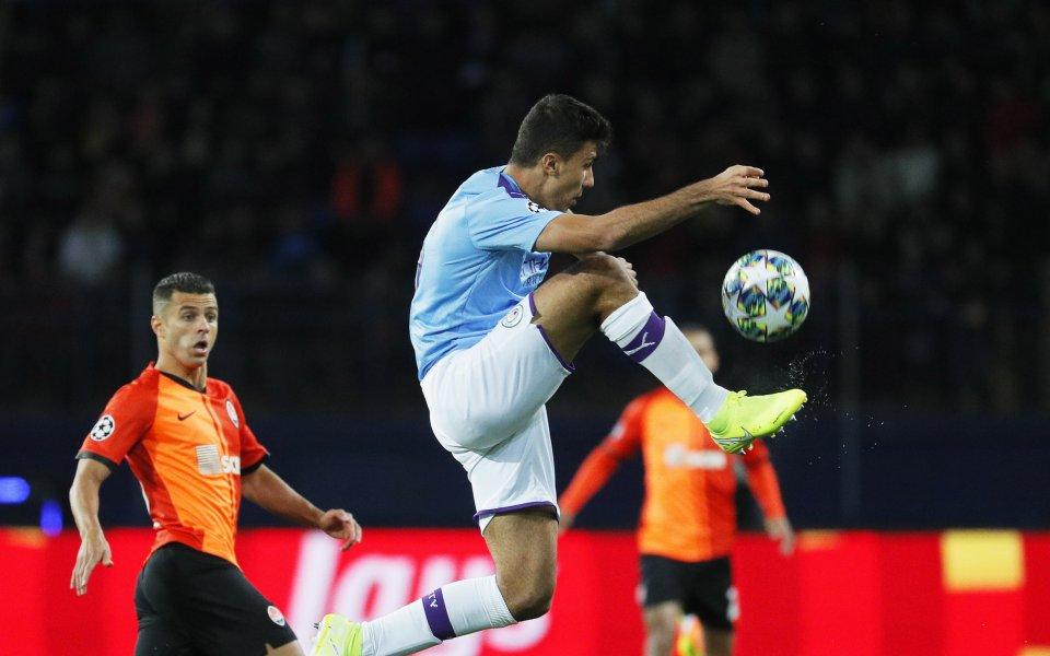Манчестър Сити спечели категорично с 3:0 гостуването на Шахтьор Донецк