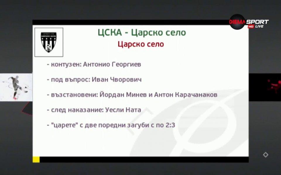 ЦСКА приема новака Царско село във втори двубой от петъчната
