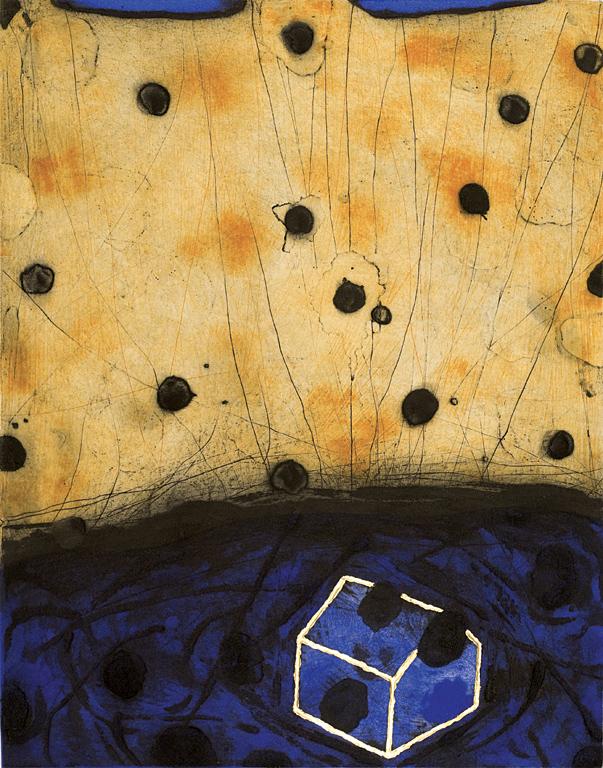 <p>Сандро Бракита | Sandro Bracchitta Черен сняг | Neve nera Карборунд, суха игла, златно фолио I Carborundum, drypoint and golden leaf</p>