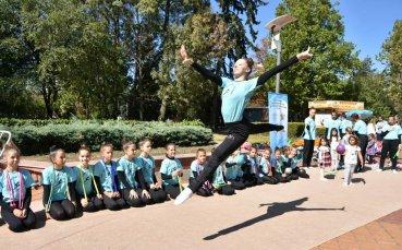 Голям интерес към откритата тренировка по художествена гимнастика