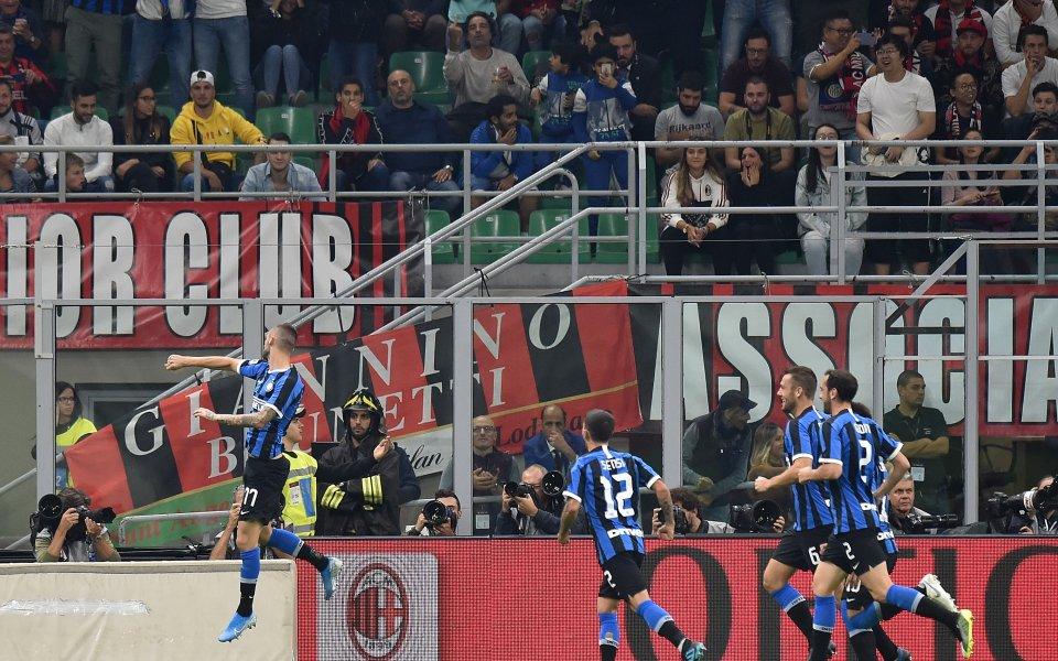 """Отборът на Интер победи Милан в прочутото """"Дерби дела Мадонина"""""""