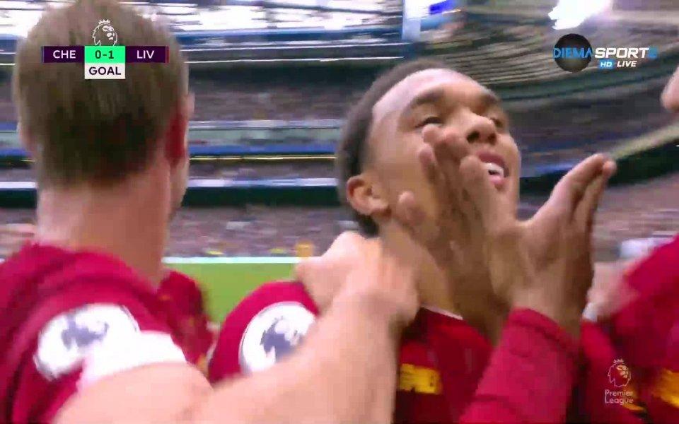Ливърпул поведе с 1:0 при гостуването срещу Челси в големия