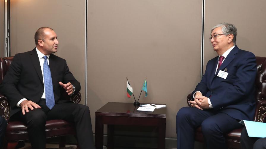 Президентите Румен Радев и Касим-Жомарт Токаев