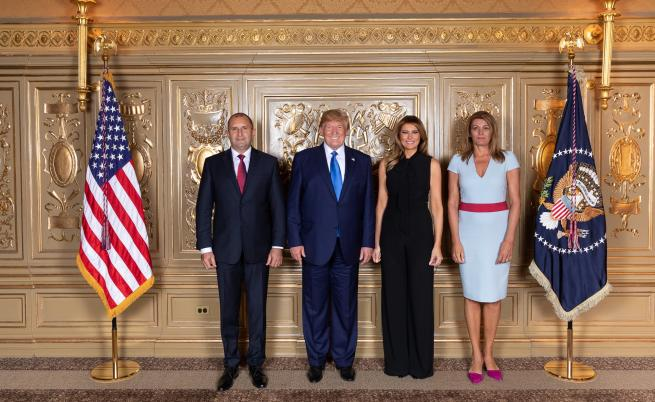 Десислава Радева до Мелания на прием в Ню Йорк, за какво говориха Радев и Тръмп