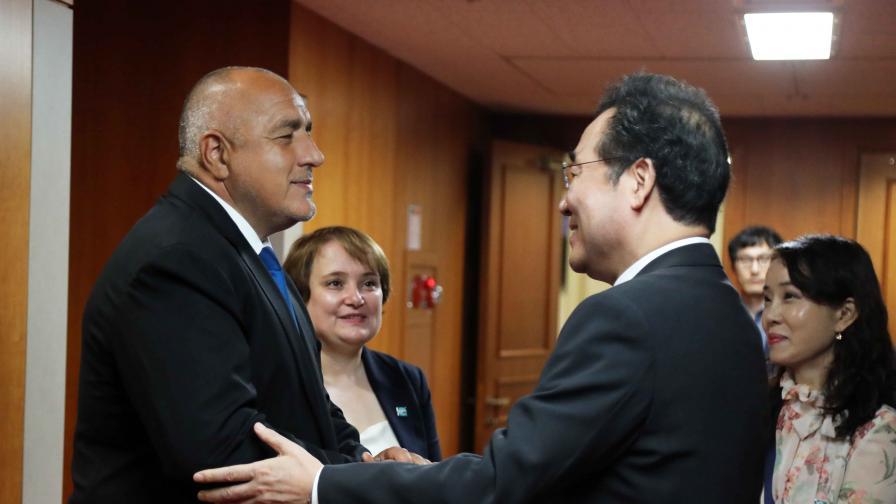 Премиерът Бойко Борисов проведе среща с министър-председателя на Република Корея И Нак-йон
