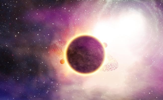Откриха гигантска планета, обикаляща около червено джудже
