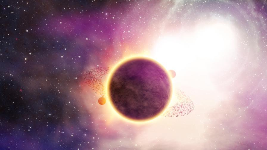 "<p>Откриха <span style=""color:#ffbc00;""><strong>гигантска планета</strong></span>, обикаляща около червено джудже</p>"