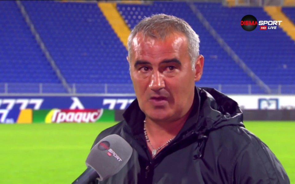 Треньорът на Ботев Враца Сашо Ангелов призна, че е имало