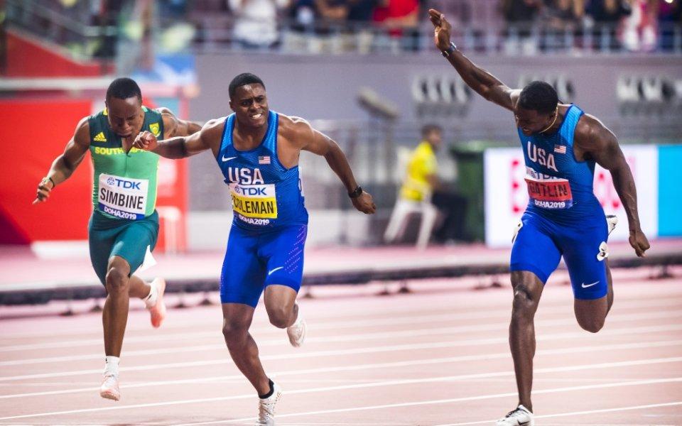 В силен финал на 100 метра триумфът е американски