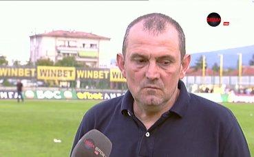 Загорчич: Искам повече самочувствие от играчите си