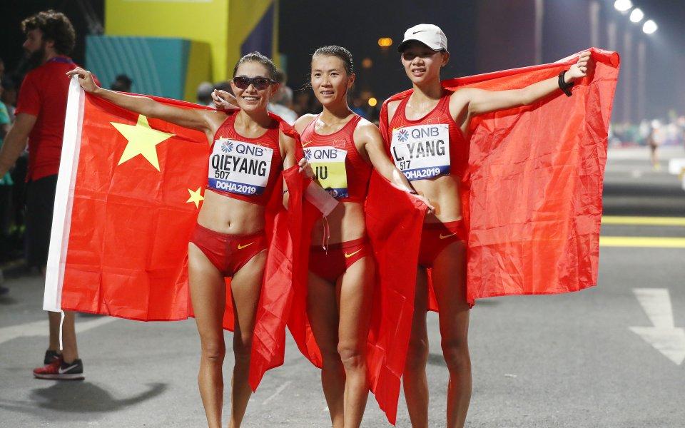 Китайката Лю Хун спечели златото във финала на 20 километра