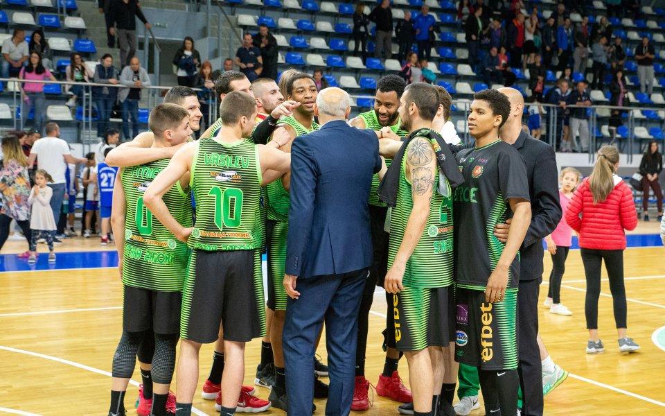 Мъжкият баскетболен отбор на Берое записа изключителна победа в първия