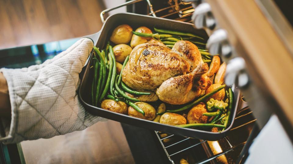 пиле готвене