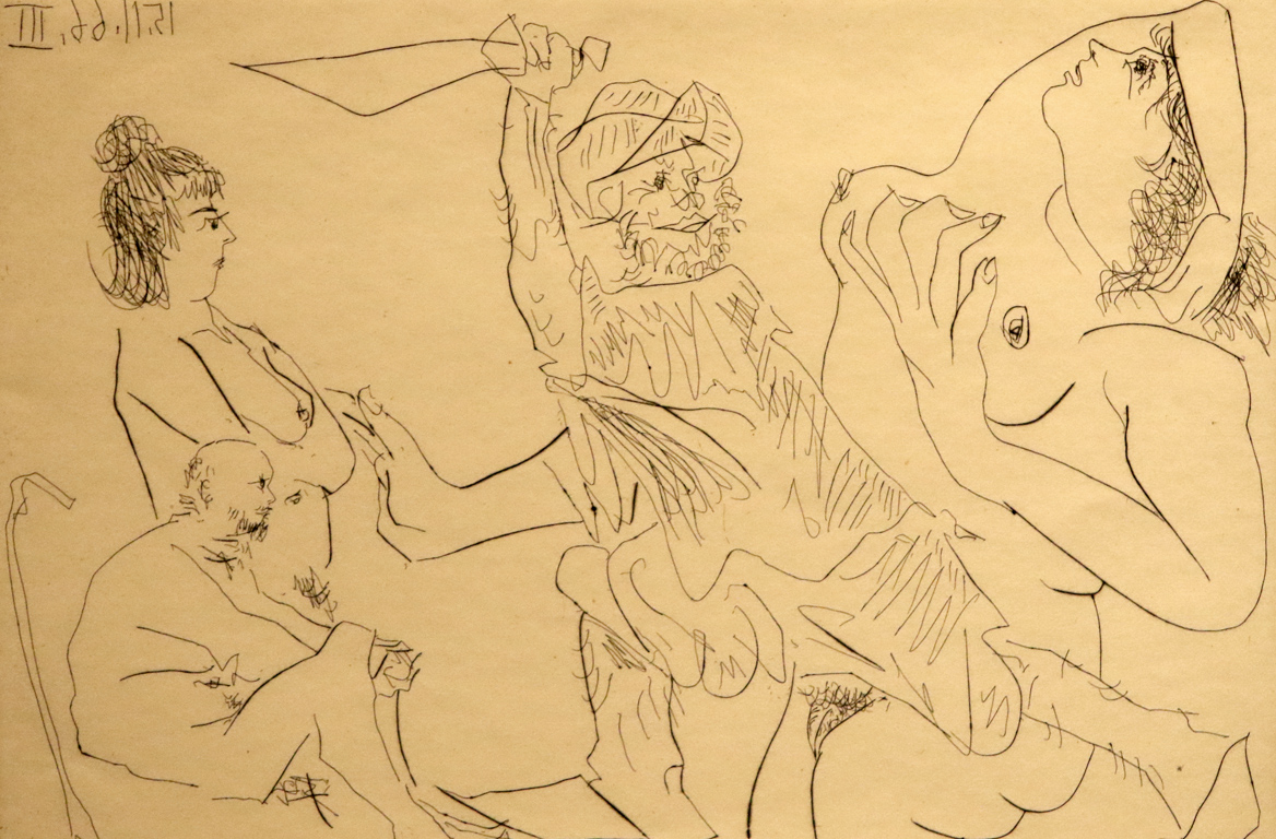 <p>Пабло Пикасо, Испания/Франция. Композиция, 15.11.1961, суха игла</p>