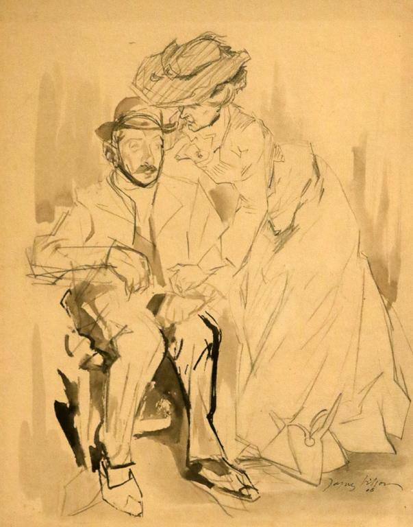 <p>Жак Вийон, Франция. Рисунка, графит</p>