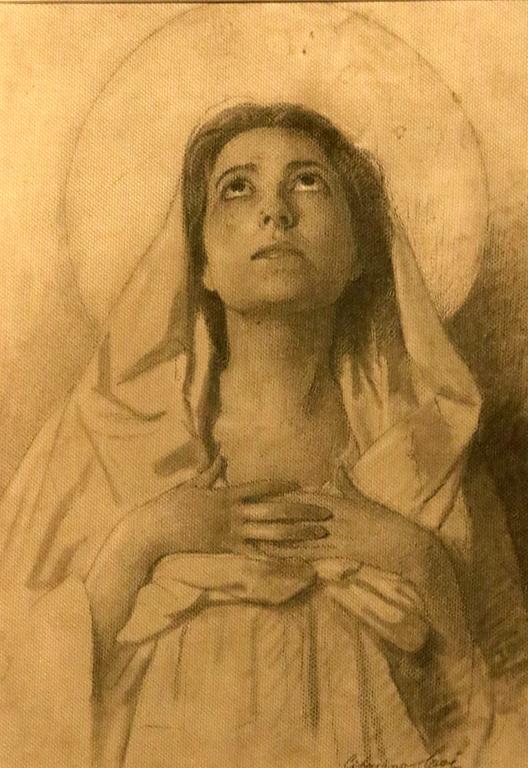 <p>Неизвестен автор, Италия. Светица, рисунка с молив</p>
