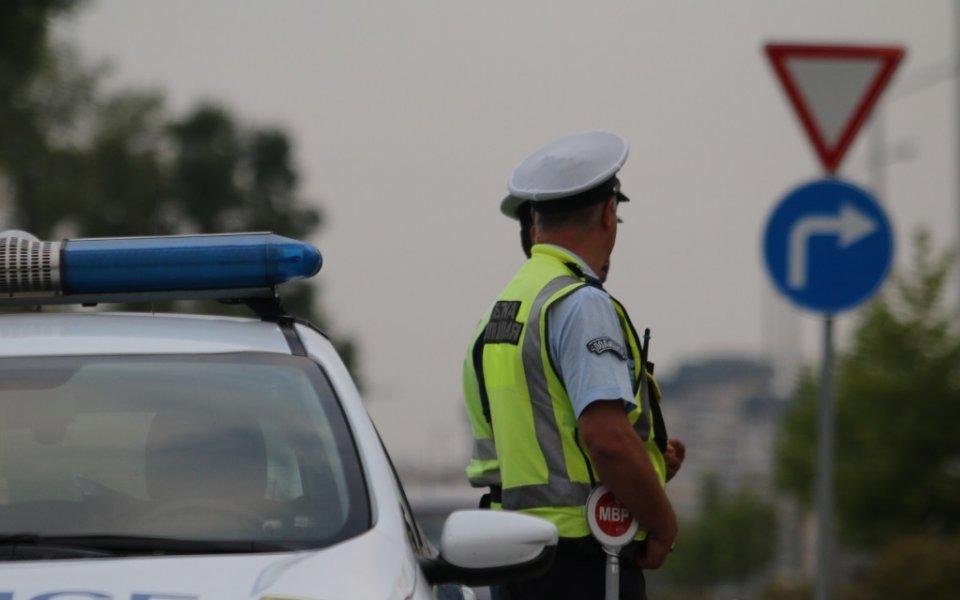Пътна полиция показва техника на Автосалон София 2019