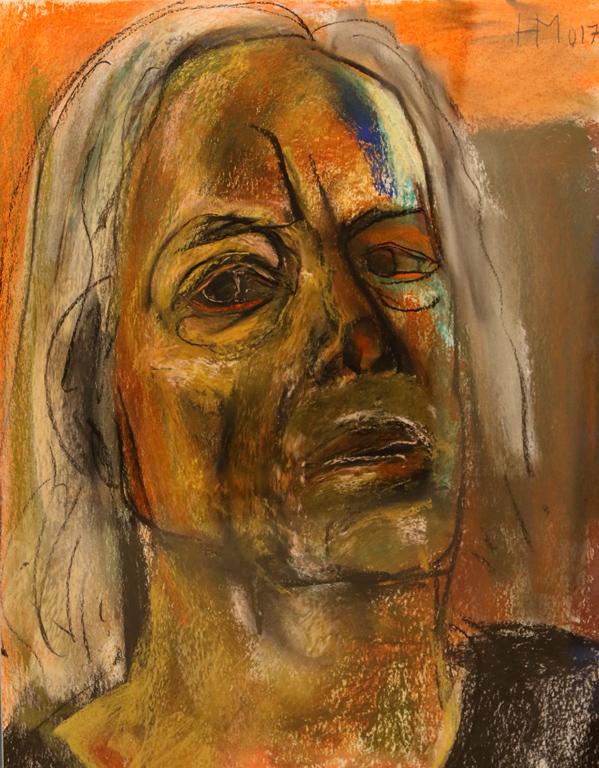 <p>Автопортрет VI, сух пастел, хартия</p>