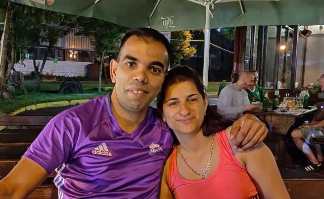 Димитър Стоянов и годеницата му - Васка