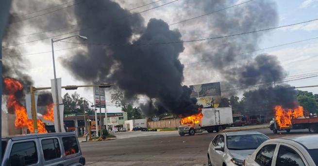 Снимка: Гусман превърна цял град в бойно поле, полицията се оттегли