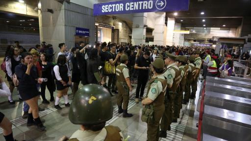 Протестите в метрото на Сантяго, Чили