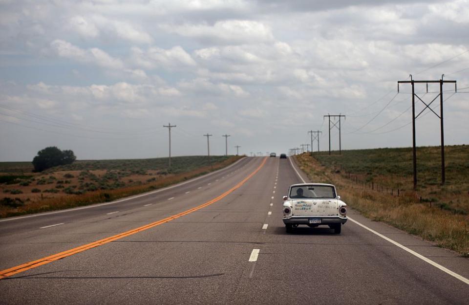 пътуване кола път