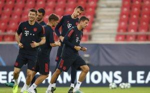 НА ЖИВО: Олимпиакос - Байерн 1:0, гърците изненадаха баварците