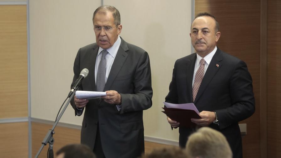 Мевлют Чавушоглу и Сергей Лавров