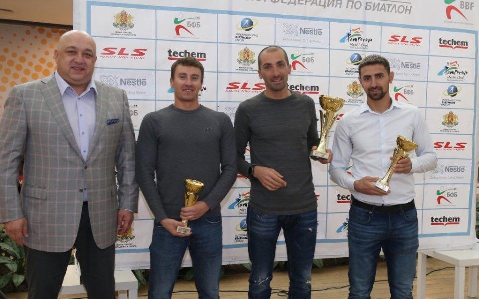Министър Кралев участва в церемонията по закриването на сезона по биатлон