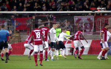 ЦСКА проби защитата на Славия