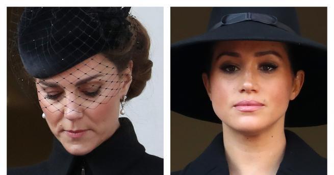 Любопитно Херцогините в черно: Кейт и Меган на важно събитие