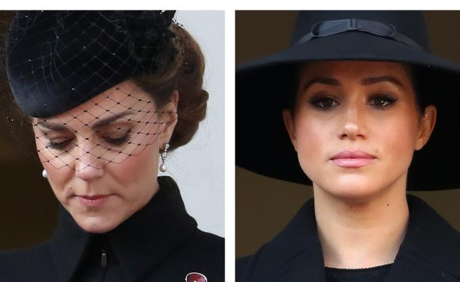Херцогините в черно: Кейт и Меган на важно събитие