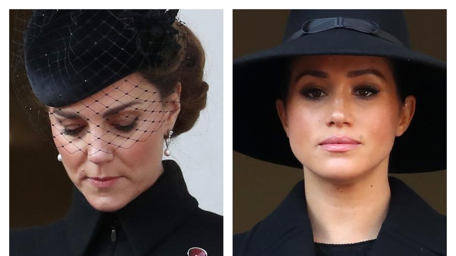<p>Херцогините в черно: <strong>Кейт и Меган</strong>&nbsp;на важно събитие</p>