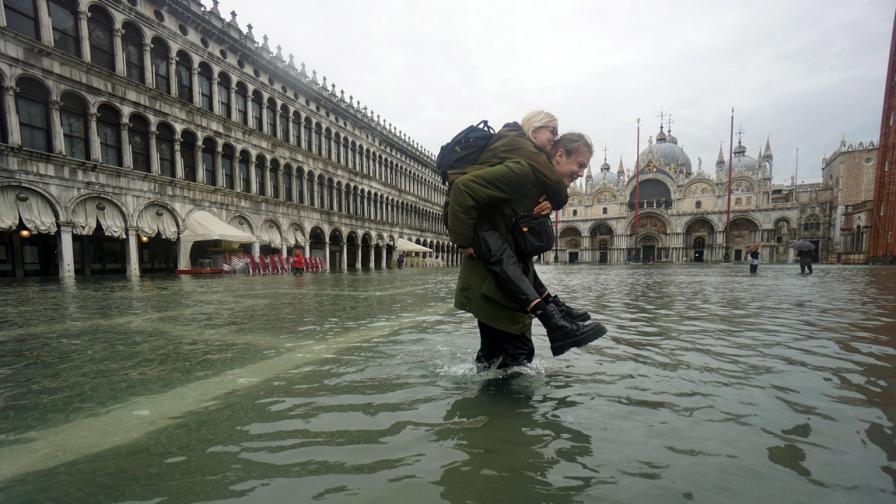 Венеция отново под вода