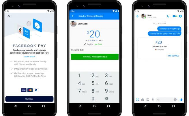 Facebook пуска услуга за онлайн плащания