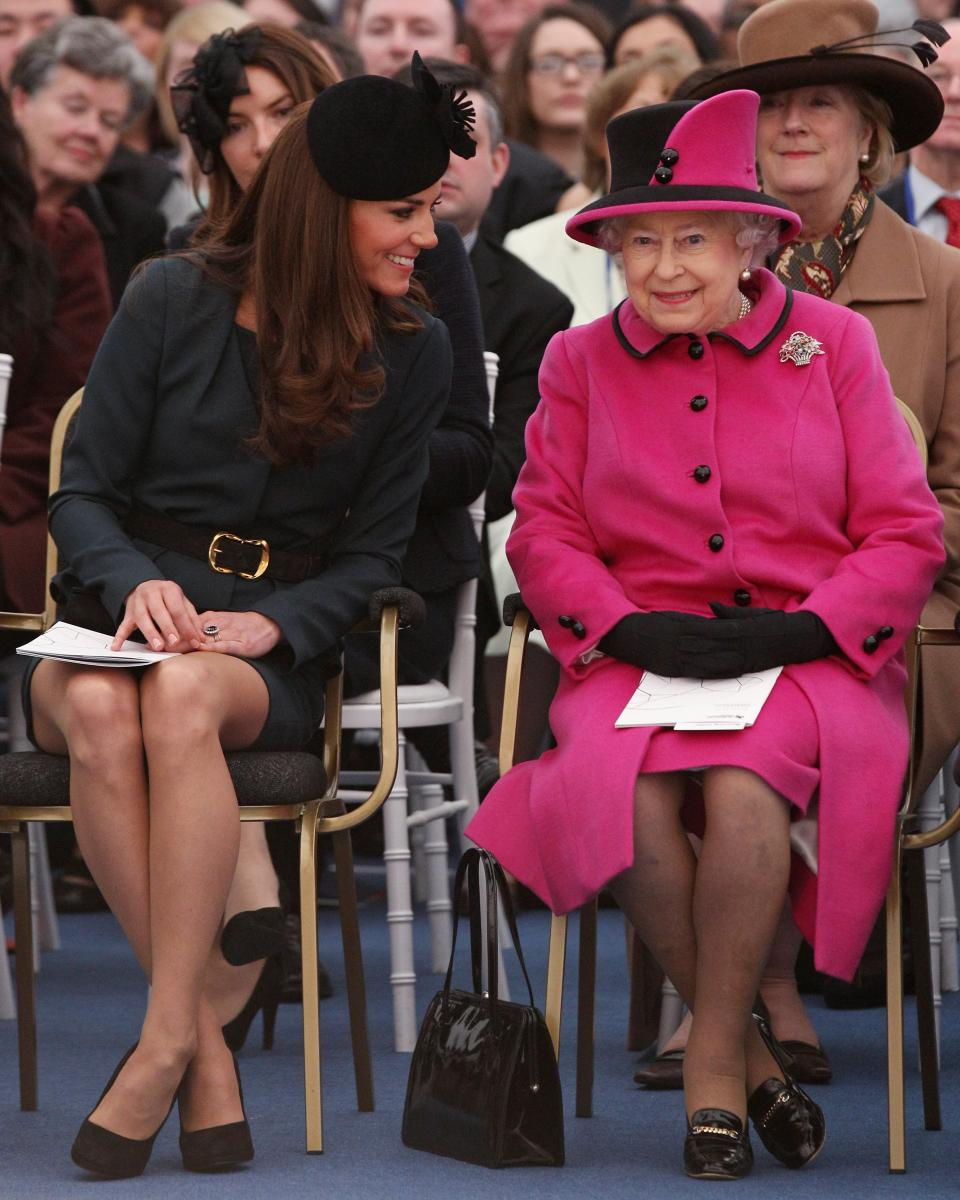 Кейт Мидълтън и кралица Елизабет