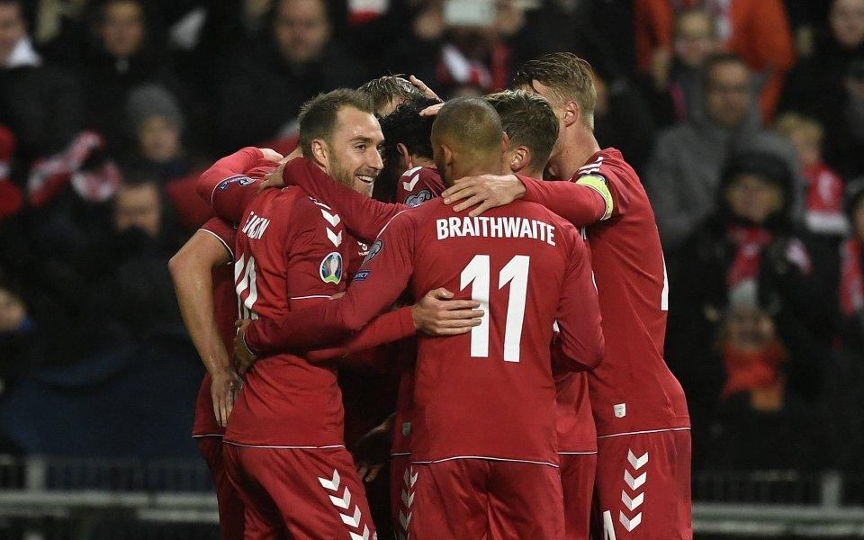 Тимът на Дания не остави шансове на Гибралтар и ги
