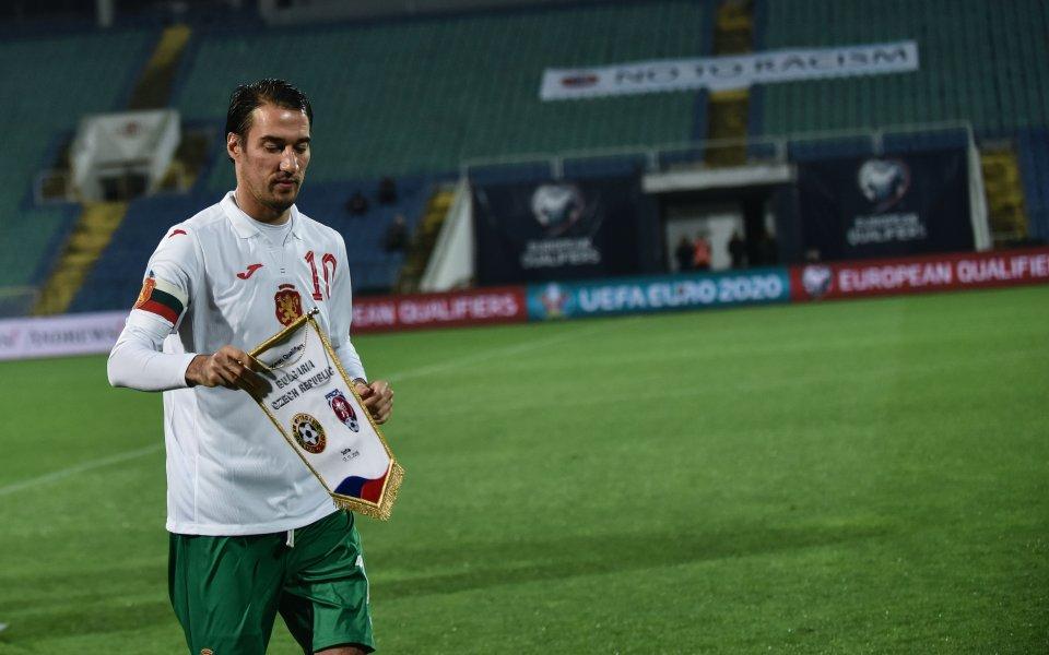 Вече бившият капитан на националния отбор на България Ивелин Попов