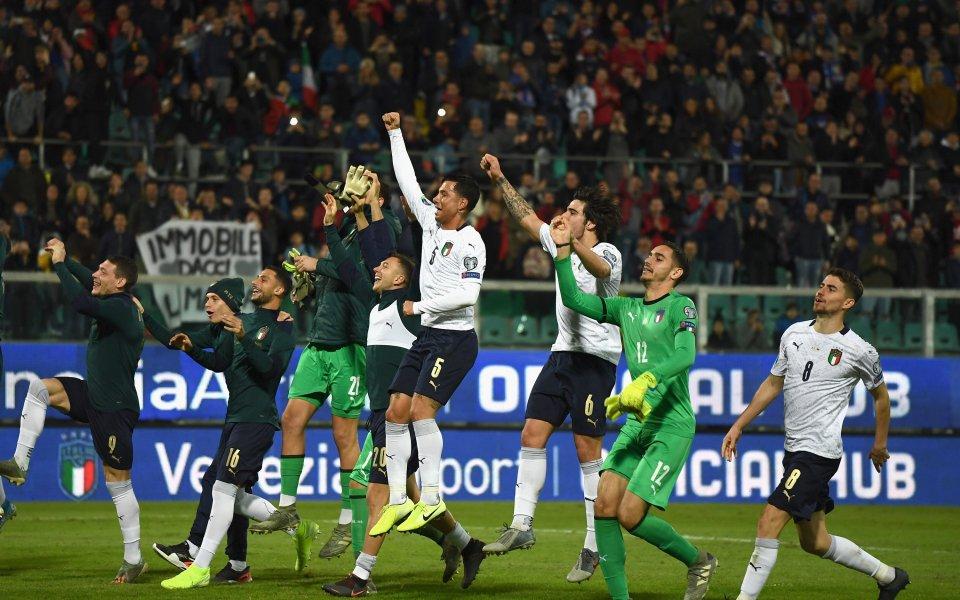 Исторически рекорд записа Италия в европейските квалификации. За първи път