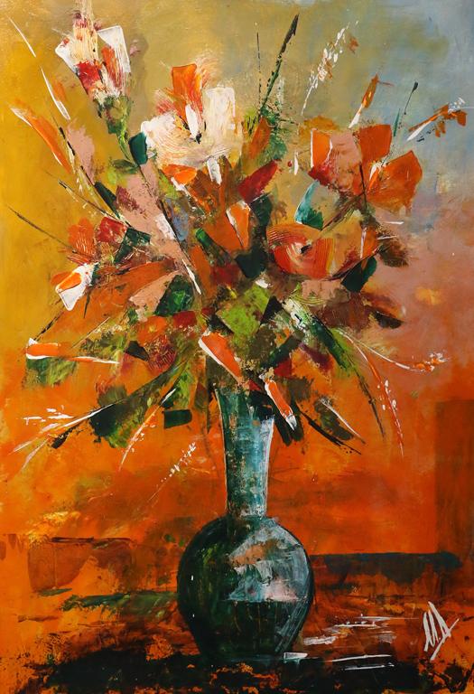 <p>КОЛЕКЦИЯ ОТ КАЛЕНДАРА НА ГАЛЕРИЯ &rdquo;ИКАР&rdquo; ЗА 2020 г</p>  <p>&quot;Ваза с цветя&quot; худ. Минка Добрева</p>