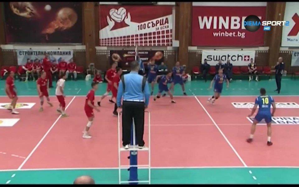 Обзор от мачовете в 6-ия кръг на първенството по волейбол