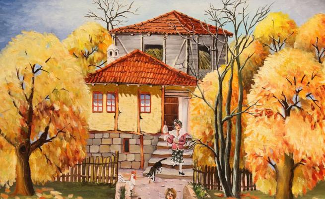Цветни, пъстри, пълна идилия - картините на Димитър Вецин