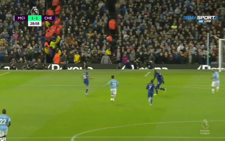 Отборът на Манчестър Сити победи Челси с 2:1 в домакински