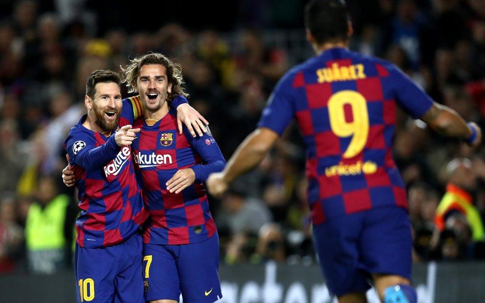 Отборите на Барселона иБорусия Дортмунд играят при резултат 3:0в дербито