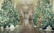 Блясък, елхи, патриотизъм: Коледната украса на Мелания Тръмп