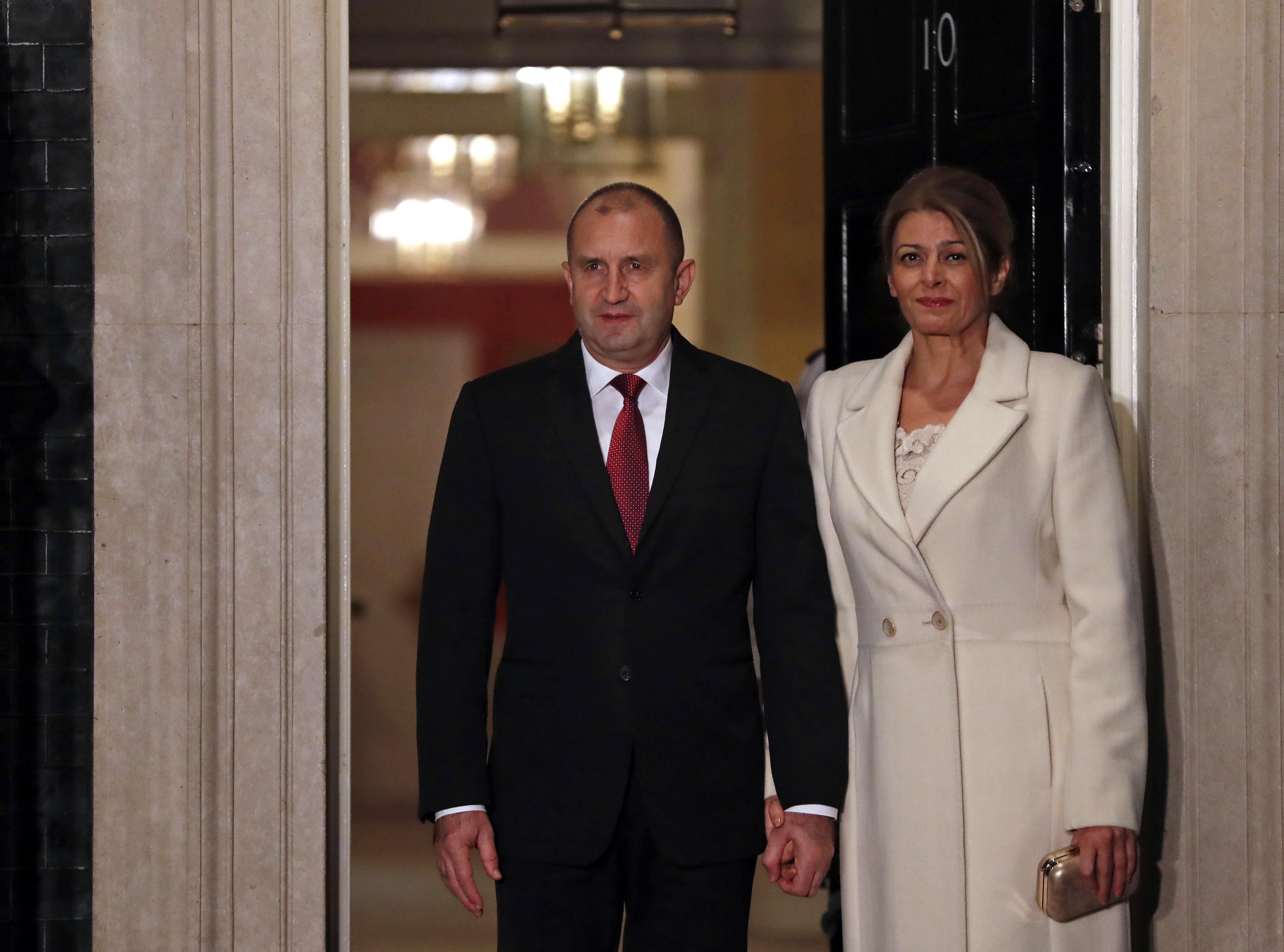 <p>Българският президент Румен Радев и съпругата му Десислава Радева</p>
